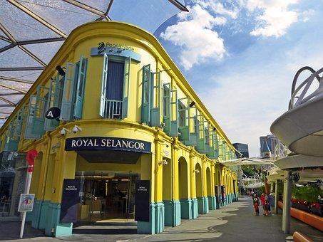 Singapore, Clarke Quay, Building, Landmark, Shops