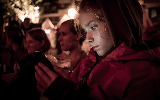 Girl, Phone, Late Night, Social Network