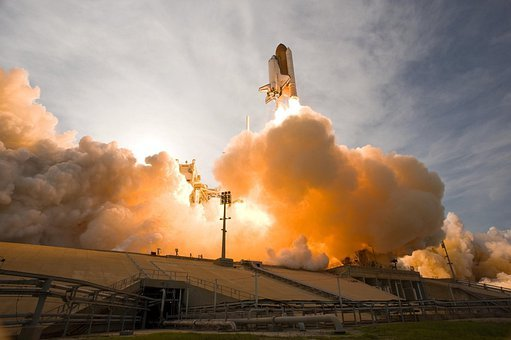 Space Shuttle, Lift-off, Liftoff, Nasa, Aerospace
