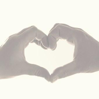 Hands, Finger, Love, Heart, Man, Woman, Togetherness