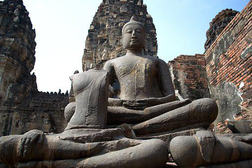 Lop Buri, Phra Prang Sam Yot, Monkey, Sculpture