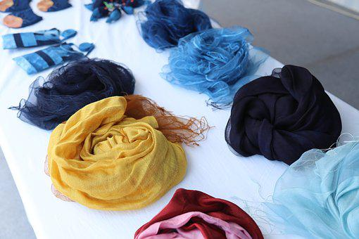 Natural Dyeing Scarves, Natural Dyeing, Famous Hat-bone