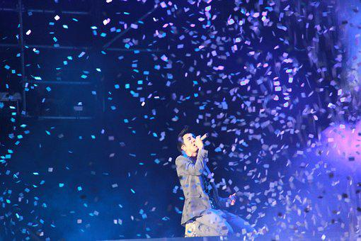 Concert, Lee Hom, Nest, Display, Site, Singer, Confetti