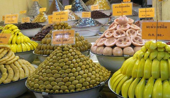 Asian Vegetables, Display, Olive, Lotus Root