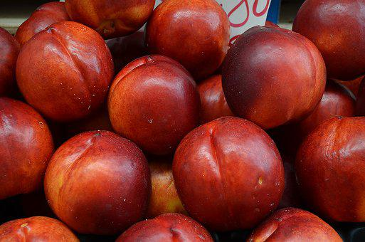 Nectarines, Red Fruit, Fruit Stall, Decorative