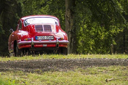 Porsche, Car, Red, Fast, Auto, Classic, Automobiles