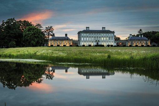 Landscape, House, Reflection, Sunset, Ireland