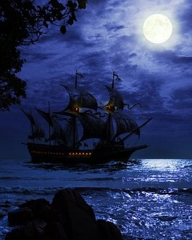 Fantasy, Pirate, Adventure, Ship, Treasure, Captain