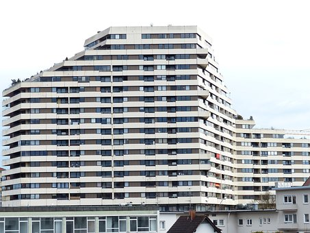 Skyscraper, Block Of Flats, Building, Architecture