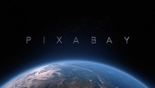 Pixabay, Satellite, Space, Star, Globe, Sunrise, Intro