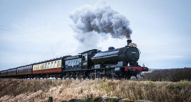 Steam Train, Yorkshire Dales, Steam, Train, Railway
