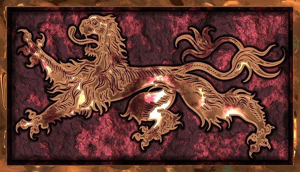 Barbary Lion, Symbol, British, Medieval, Symbolism