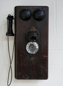 Telephone, Phone, Antique, Wall, Communication