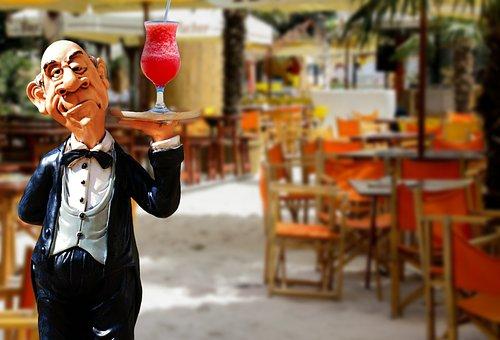 Restaurant, Cocktail, Drink, Operation, Upper, Waiter