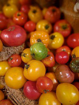 Tomato, Vegetable, Fresh, Natural, Green, Red, Display