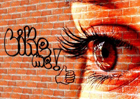 Font, Wall, Woman, Eyes, Facebook, Like, Social Network