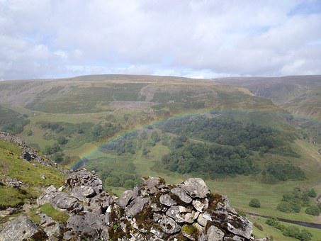 Rainbow, Yorkshire, Dales, Countryside, Landscape