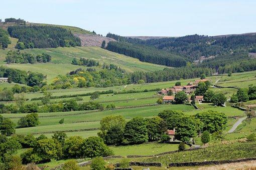 Yorkshire Moors, Dales, Yorkshire, Landscape, England
