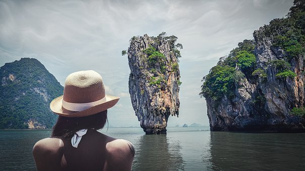 Thailand, Sea, Person, Sea ​​view, An Island