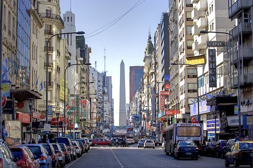Buenos Aires, Argentina, Obelisk, Corrientes Avenue