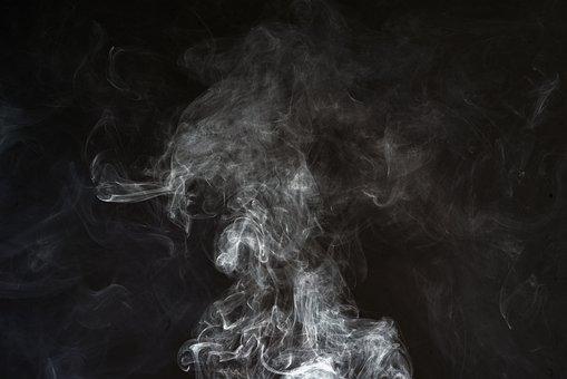 Smoke, Black, Background, White, Abstract, Texture