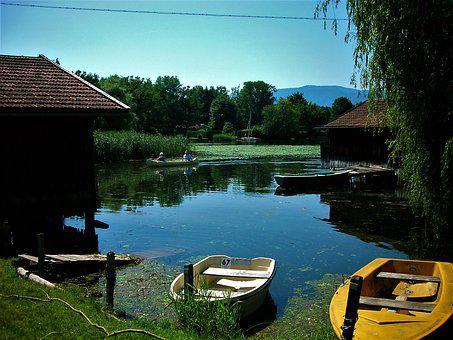 Boat House, Staffelsee, Boot, Rowing Boat, Lake, Water