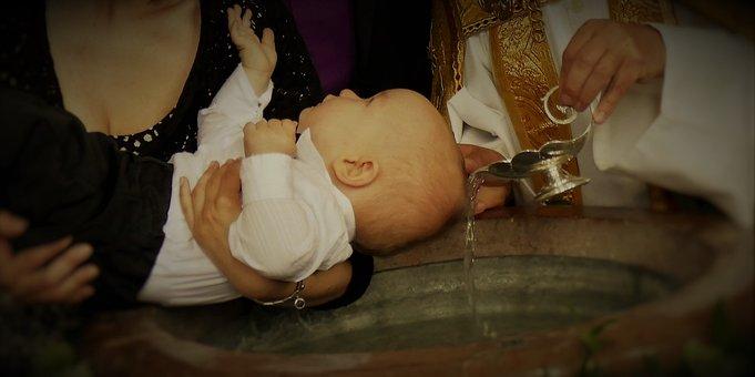 Baptism, Baptismal Font, Church, Religion, Christianity