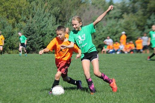Soccer, Coed, Ball, Game, Football, Sport, Team, Play
