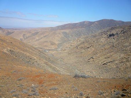 Desert Landscape, Volcanic, Fuerteventura, Islands