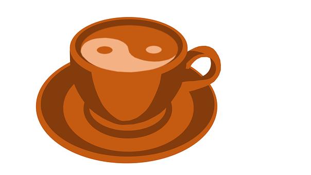 Coffee, Yin, Yang, Yin-yang, Cafe, Drink, Coffe
