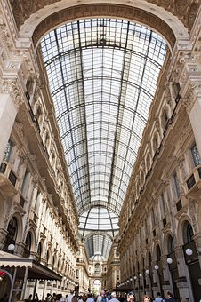 Europe, Italy, Shopping, Galleria Vittorio Emanuele Ii
