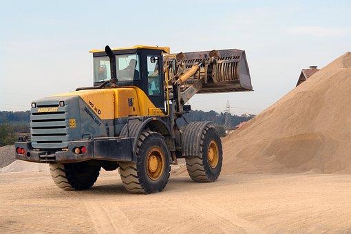 Excavator, Sand, Dirt, Industry, Excavation, Digger