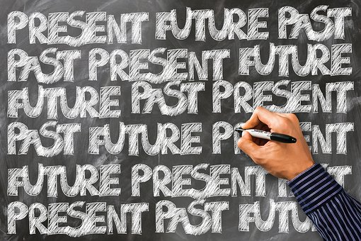 Forward, Hand, Leave, Past, Present, Board, Font