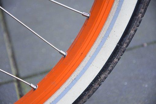 Bike, Orange, Mature, Bicycle Tour, Close Up, Leisure
