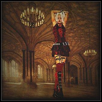 Woman, Gothic, Lollitta, Gothic Lollitta, Punk