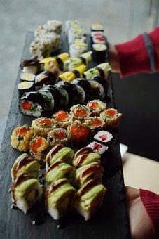 Sushi, Vegan, Fresh, Asia, Snack, Rice, Food