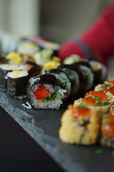 Sushi, Vegan, Asia, Snack, Food, Rice, Vegetarian