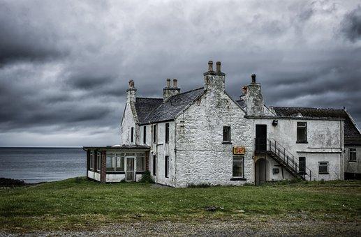 House, Sea, Coast, Scotland, Lost Places, Abandoned