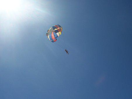 Parachute, Sport, Skydiving, Sky, Descent, Extreme, Air