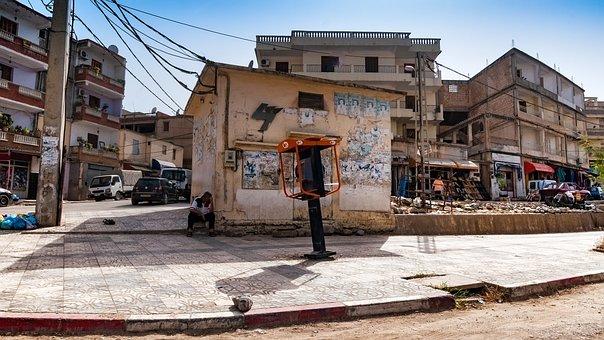 Road, Bejaia, Algeria, City, Mediterranean, People, Sky