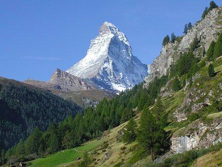 Zermatt, Matterhorn, Mountains, Landscape, Nature