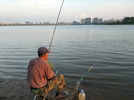 People, The Old Man, Fishing, Also Within Easy Reach