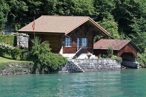 Lake, Home, Landscape, Water, Nature, Bank, Brienz