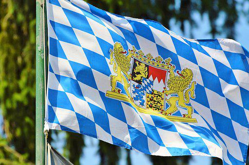 Flag, Bayern Flag, Bavaria Flag, Bavaria, Blow, Flutter