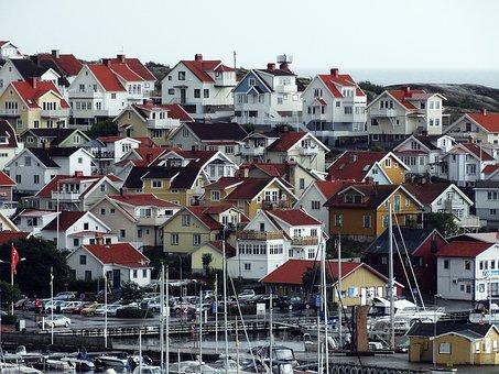 Smögen, Bohuslän, Skärgårdshus, Coastal Setting, Sweden