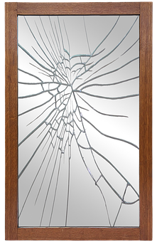 Mirror Frame, Mirror, Broken, Mirror Broken, Frame