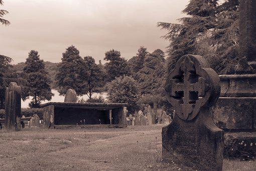 Gravestone, Church, Churchyard, Cemetery, Burial