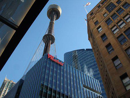 Tv Tower, Australia, City View, From The Bottom, City