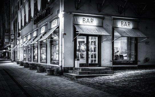 Restaurant, Coffee Shop, Night Scene, City, Finnish