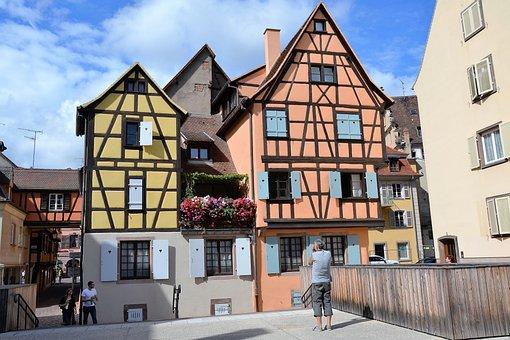 Timber-framed, House, Colmar